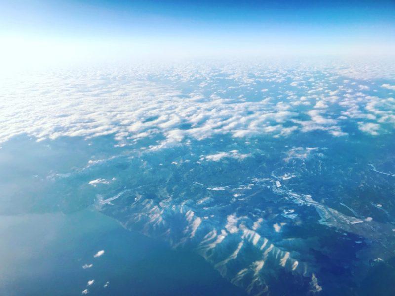 上から見た北海道